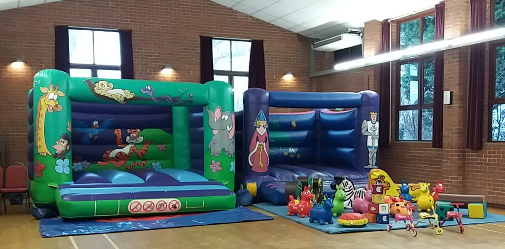 Two bouncy castles for hire with soft play ideal for birthday parties in Southampton