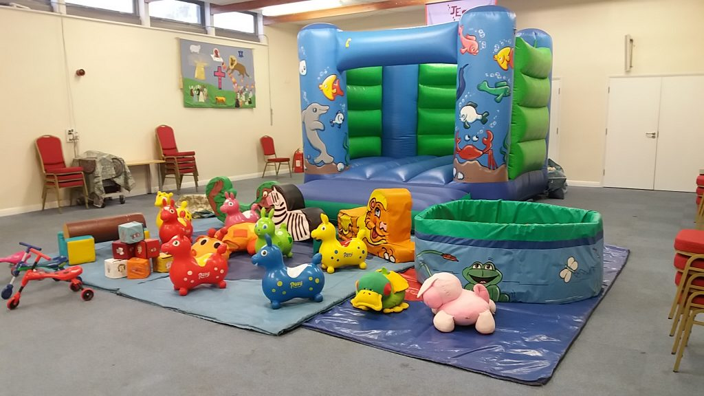 Sealife bouncy castle inflatable, soft play and ball pool hire Southampton Chandlers Ford