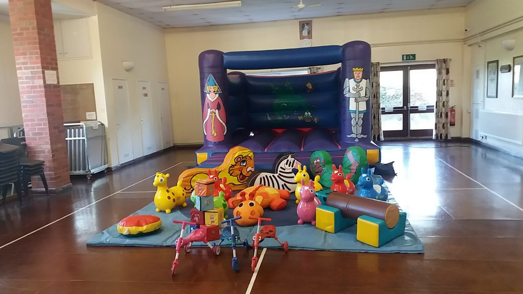 Knights and Princess Bouncy Castle with Soft Play for 1st Birthday Party Christening at Durley Village Hall SOuthampton