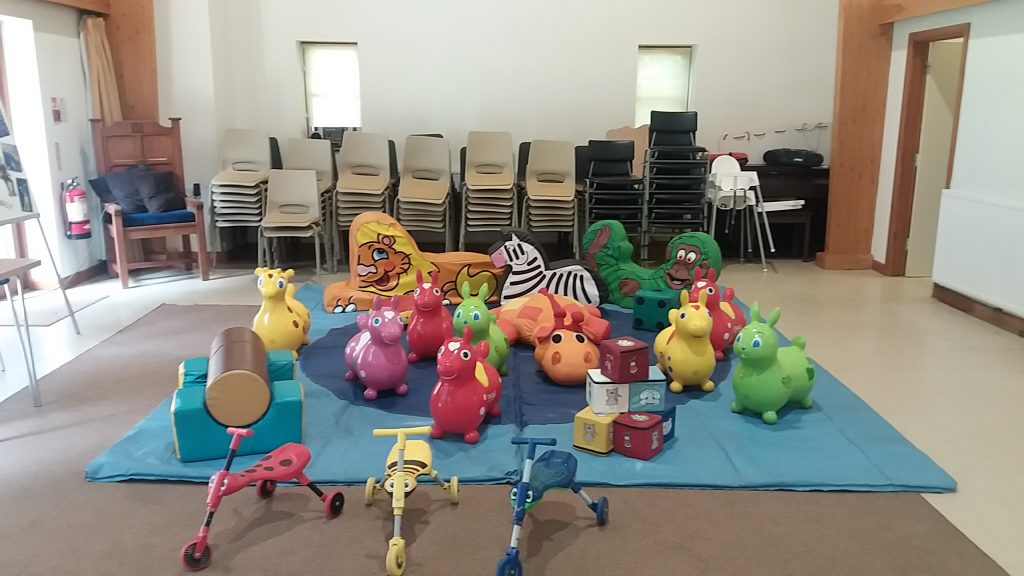 Soft play hire in Lyndhurst Baptist Church for 2nd Birthday Party