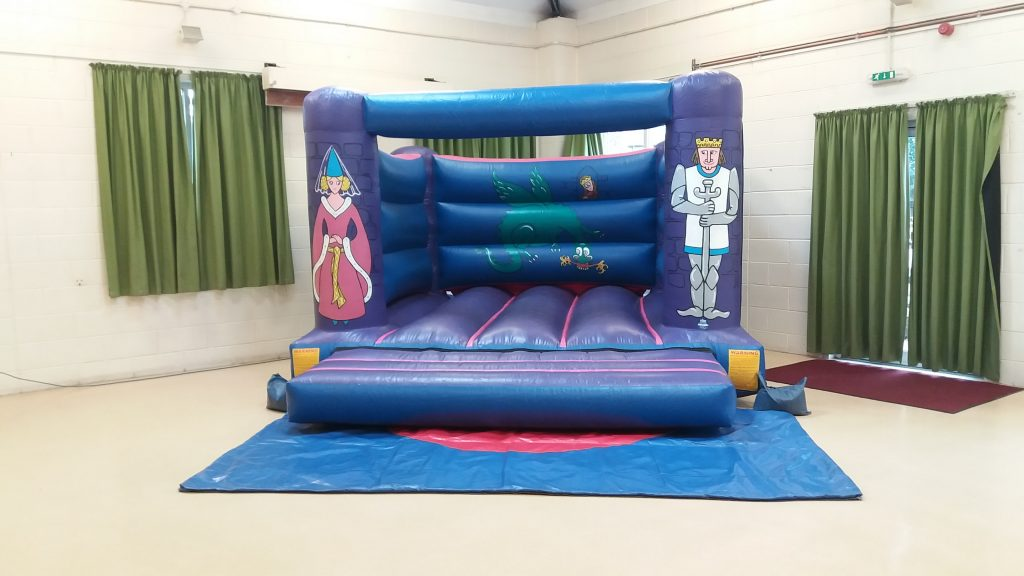 Knights Bouncy Castle for hire at Sarisbury Green Community Centre