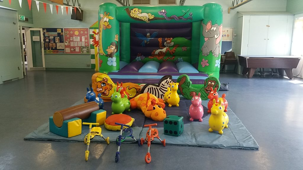 Jungle design bouncy castle with soft play at St Andrews Hall Sholing Southampton