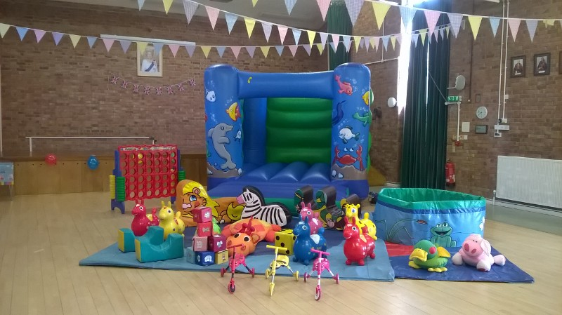Bouncy castle with with soft play in West End Village Parish Hall