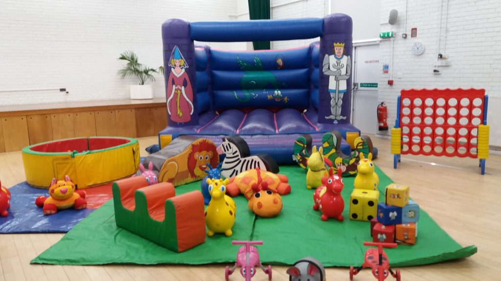 West End Parish Centre, Bouncy Castle Hire for parties, christenings, family events