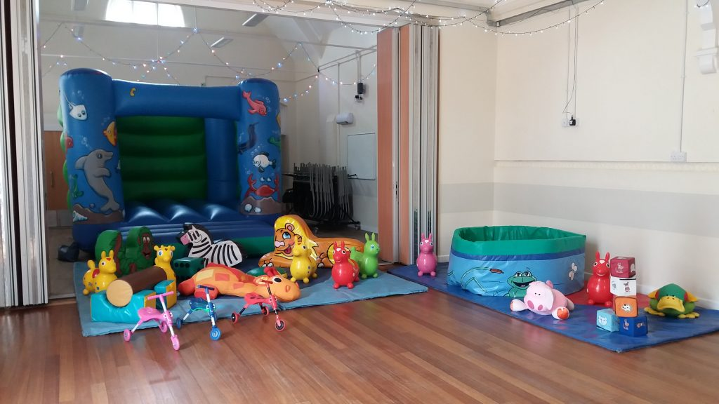 Sealife bouncy castle with soft play and ballpool at Woolston Community Centre