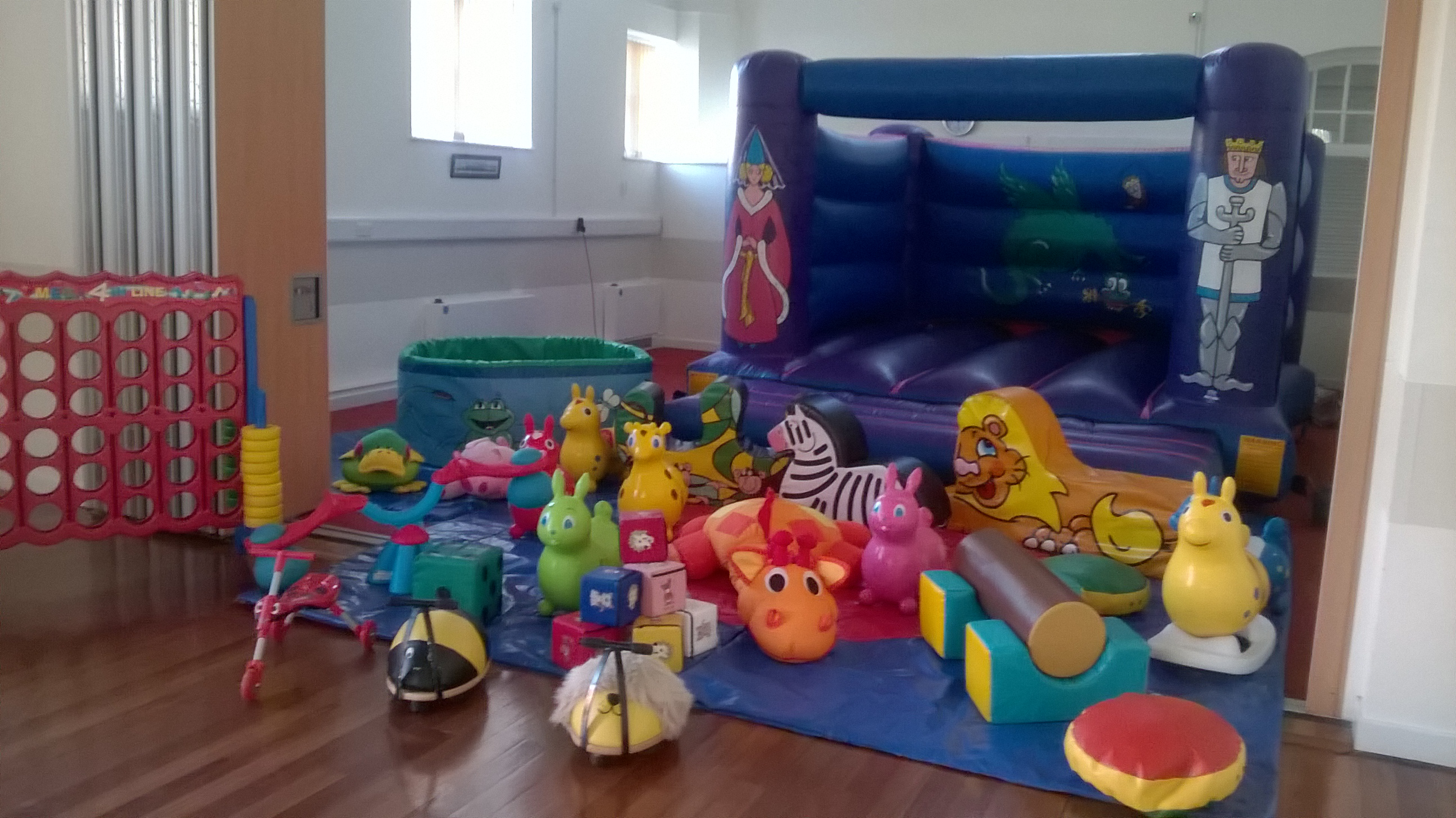 Knights boucy castles hire in Woolston Southampton, Christening party