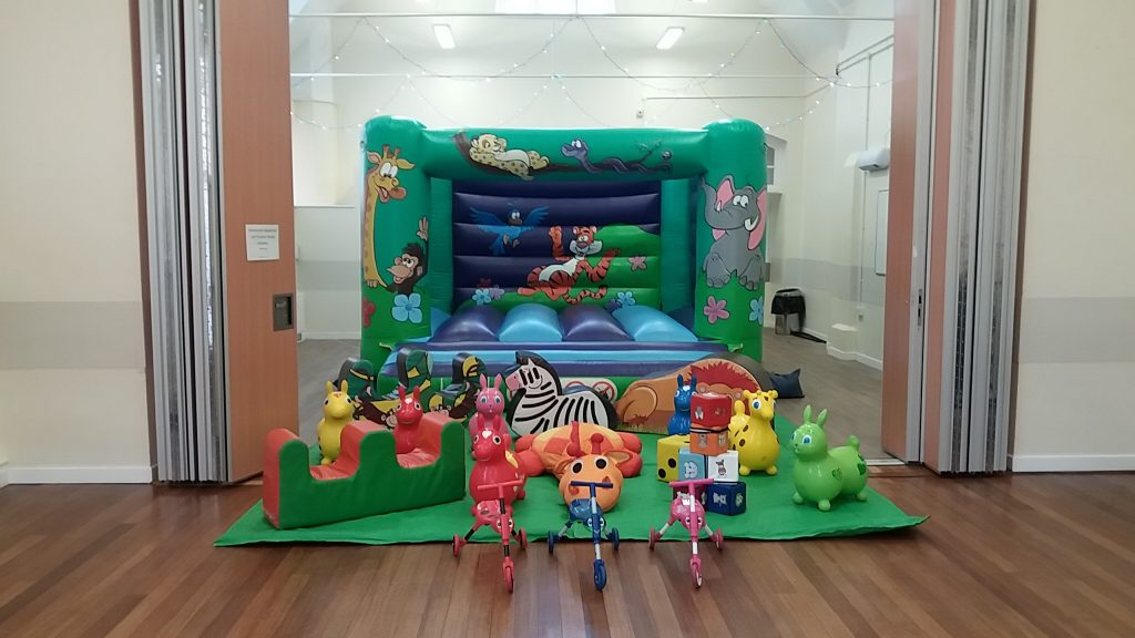 Jungle bouncy castle with soft play for Christening in Woolston, Southampton