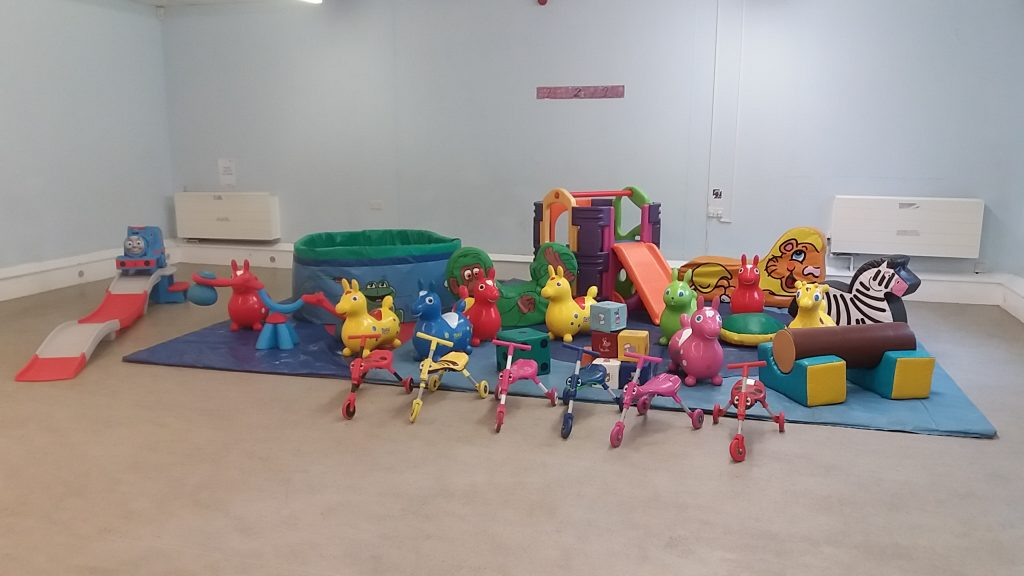 Soft Play with Ballpool, Activity Frame and Thomas Roller Coaster for hire Southampton