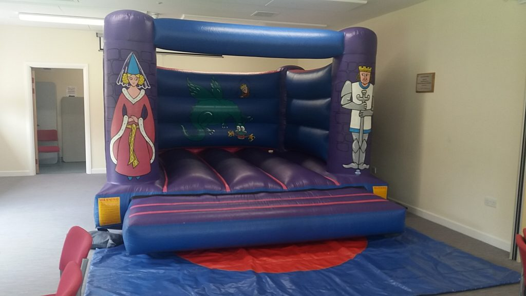 Knights and princess bouncy castle to hire at Fryern Pavilion, Chandlers Ford