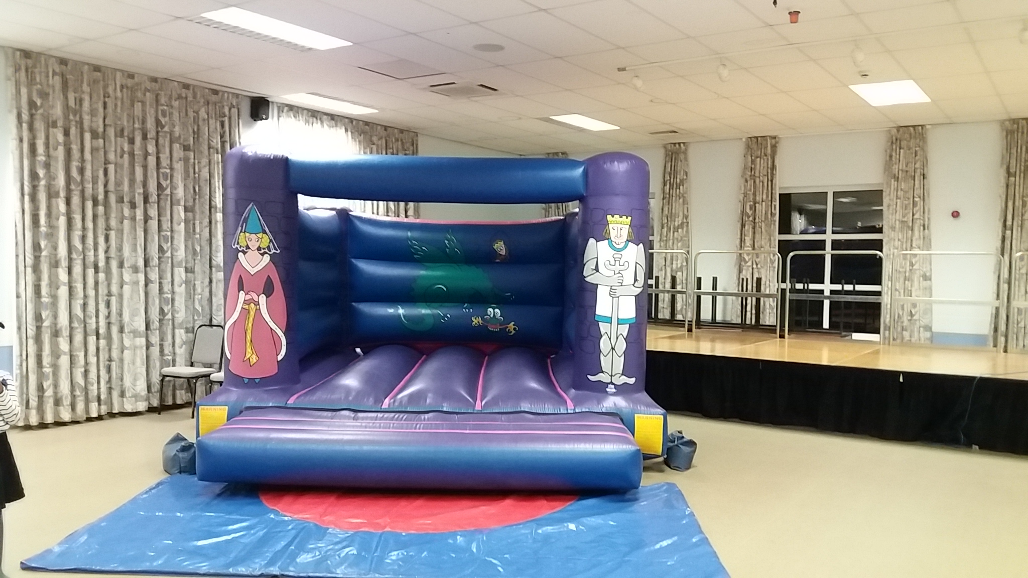 Knights Bouncy Castle at Hedge End 2000 hall