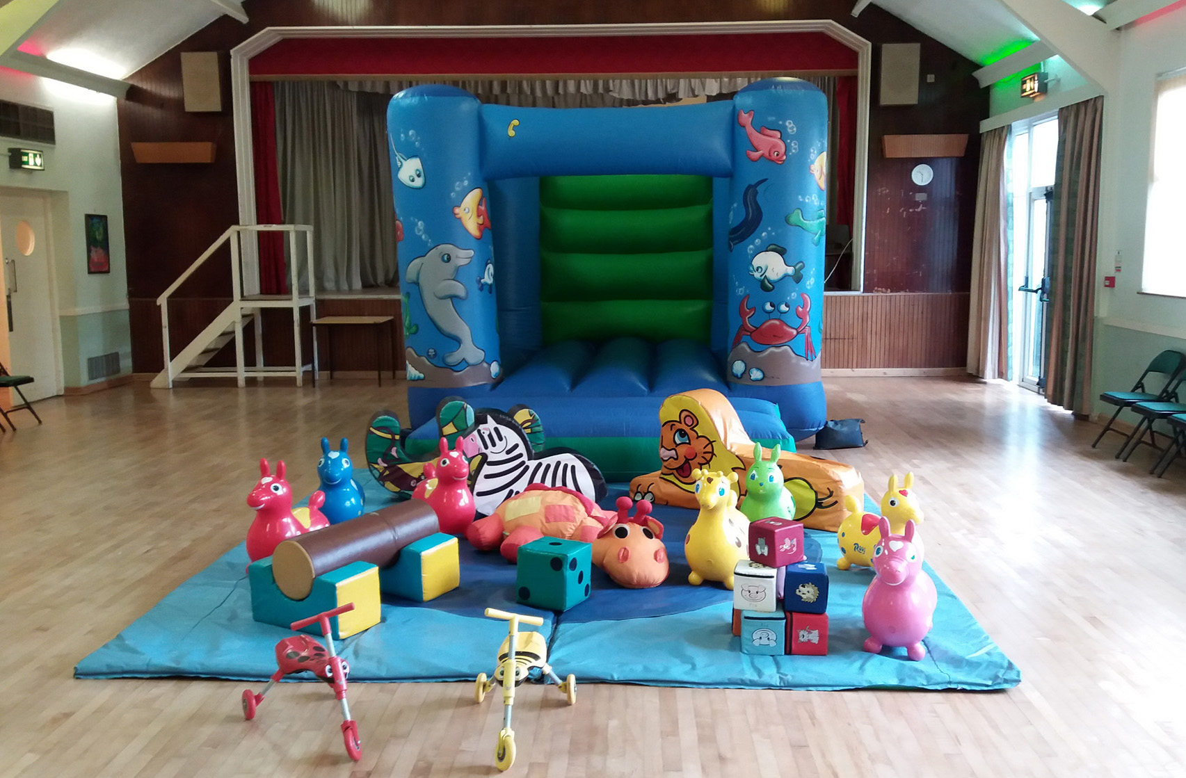 Sealife Bouncy Castle and Soft play for hire at Hedge End Village Hall