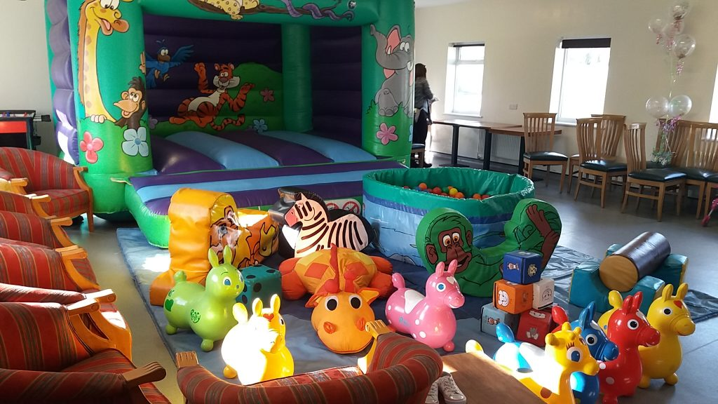 Jungle Bouncy Castle. Soft play, ballpool, party hire equipment