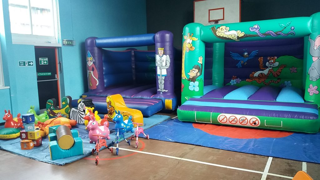 Knights Jungle Bouncy Castle with Soft Play Mega Party Hire Equipment Southampton