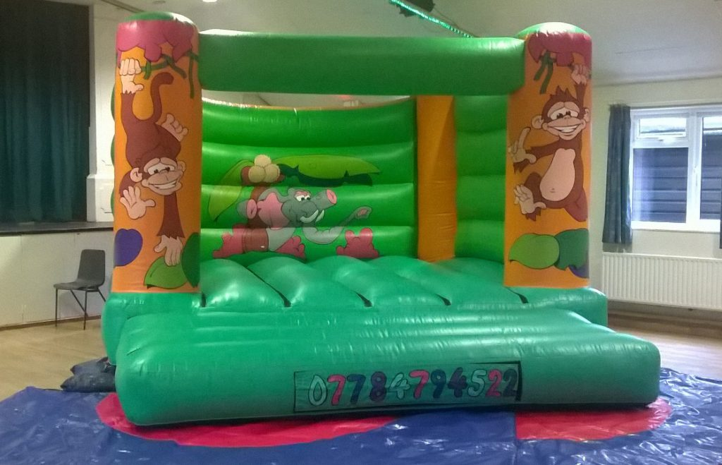 Adult or Teens Bouncy Castle Jungle Design Southampton Hire