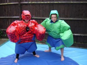 Spiderman hero suit hire Hulk childrens size