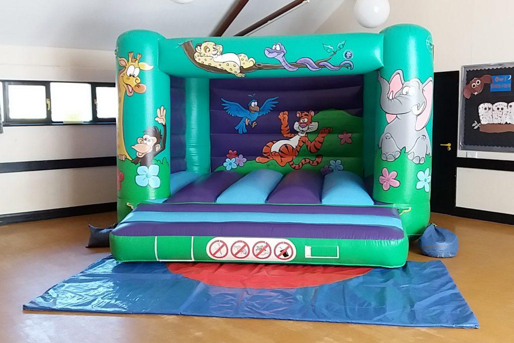 kids childrens bouncy castle hire Southampton Jungle Animal design