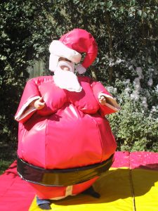 Adult Santa Sumo Suit Hire Southampton Party