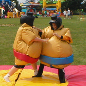 Kids Childrens sumo suit hire fat Southampton Bitterne Hedge End