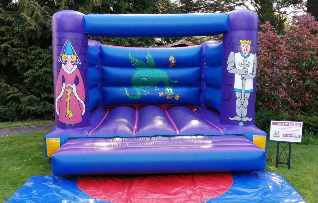 knights and princess bouncy castle hire birthday party southampton