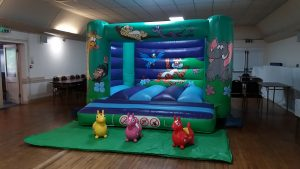 Jungle Bouncy Castle with Animal Hoppers for hire in Southampton, Hampshire