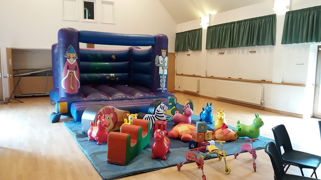 Knights & Princess Bouncy Castle hire in Upham Village Hall, nr Southampton
