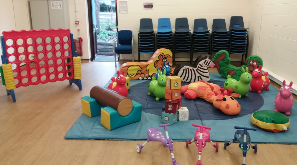 Lordshill Comm Centre (Small Hall) Southampton Soft Play Hire 1st Birthday 2nd Christening
