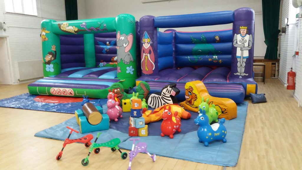 Jungle & Knights Bouncy Castles (under 12s) and Soft Play Birthday Party Package Bargain West End Parish Hall SOuthampton