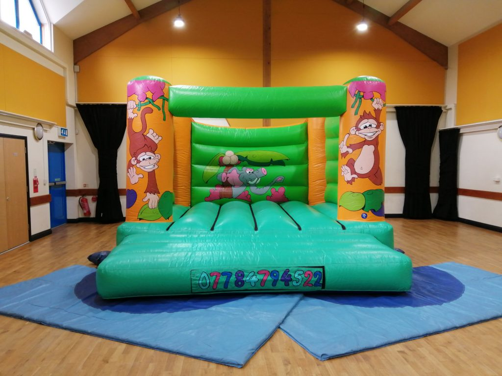 Jungle design adult bouncy castle hire in Eastleigh