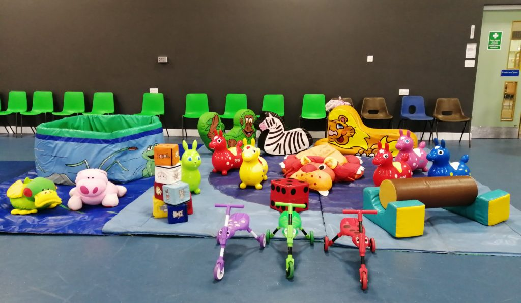 soft play and ballpool hire at Chamberlayne Leisure Centre in Weston, Southampton