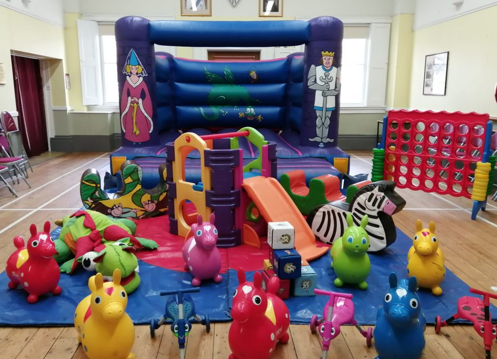 bouncy castle hire with soft play activity frame and giant connect 4 Botley southampton