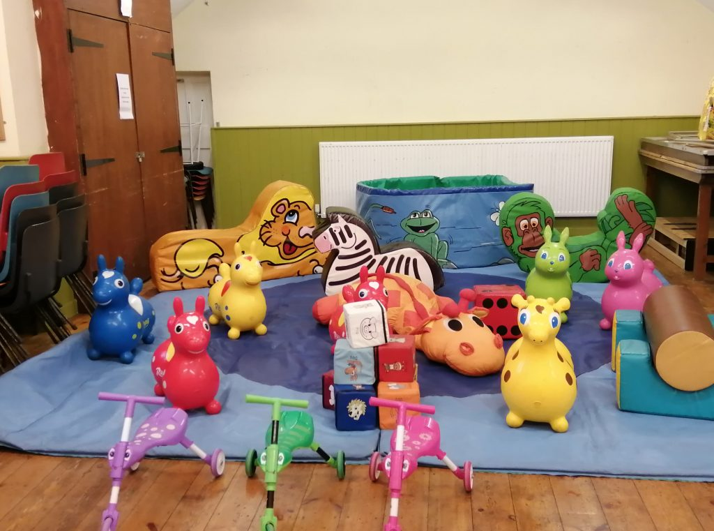 soft play hire at plaitford village hall for 3rd birthday party