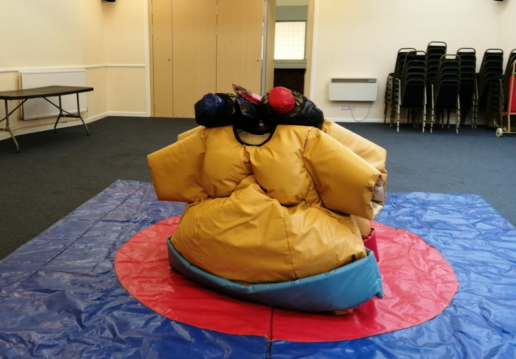 sumo wrestling suit hire romsey crosfield hall party birthday celebration