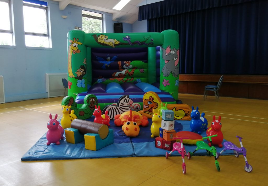 jungle theme bouncy castle hire in bishops waltham