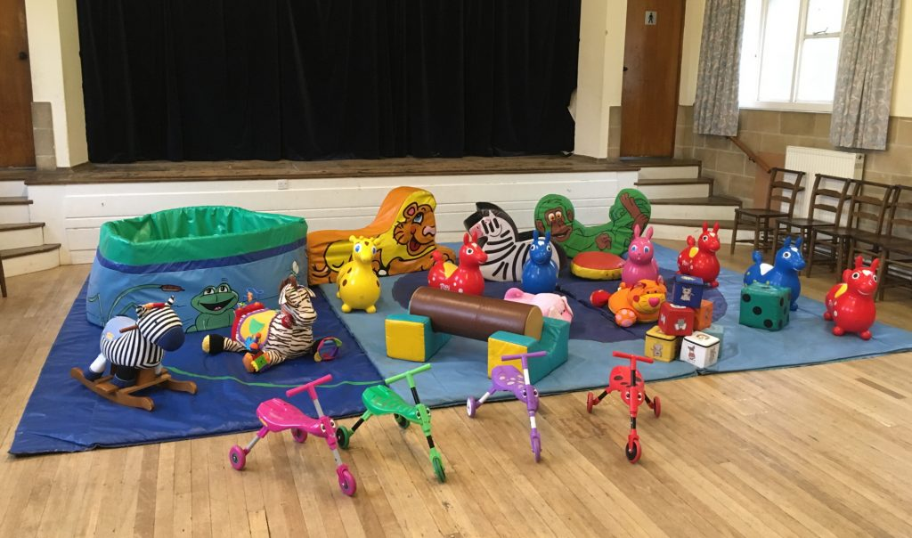 soft play selection ballpool hire at Eastleigh St Francis Church Hall
