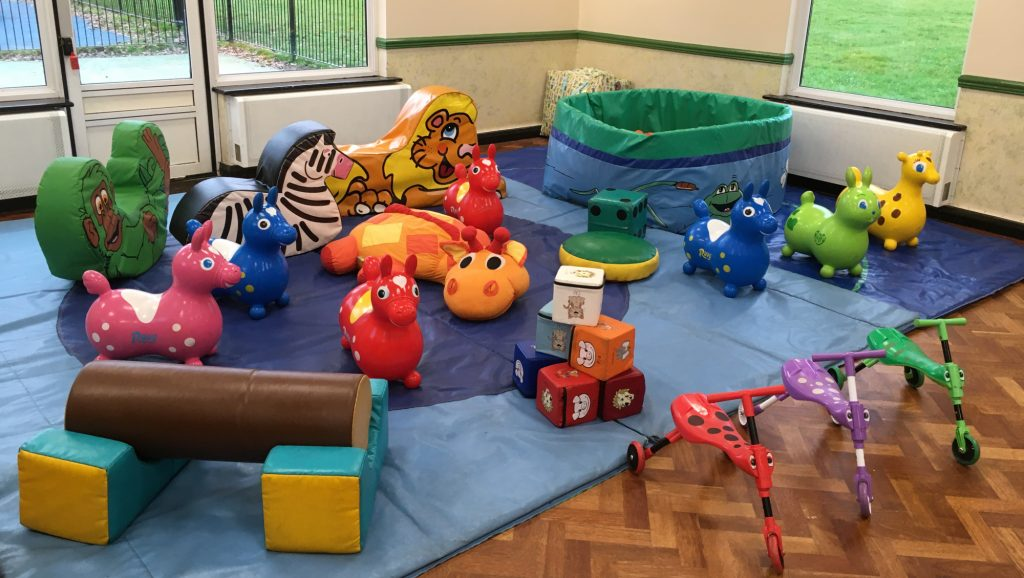 soft play and ball pool hire at Netley Marsh Totton 1st Birthday family party