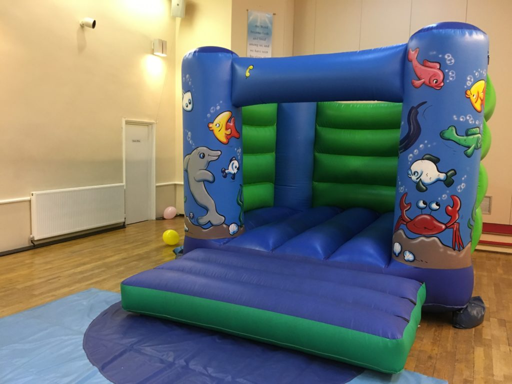 Bouncy Castle hire for birthday celebration in St Marks Church Hall, Archers Road, Southampton