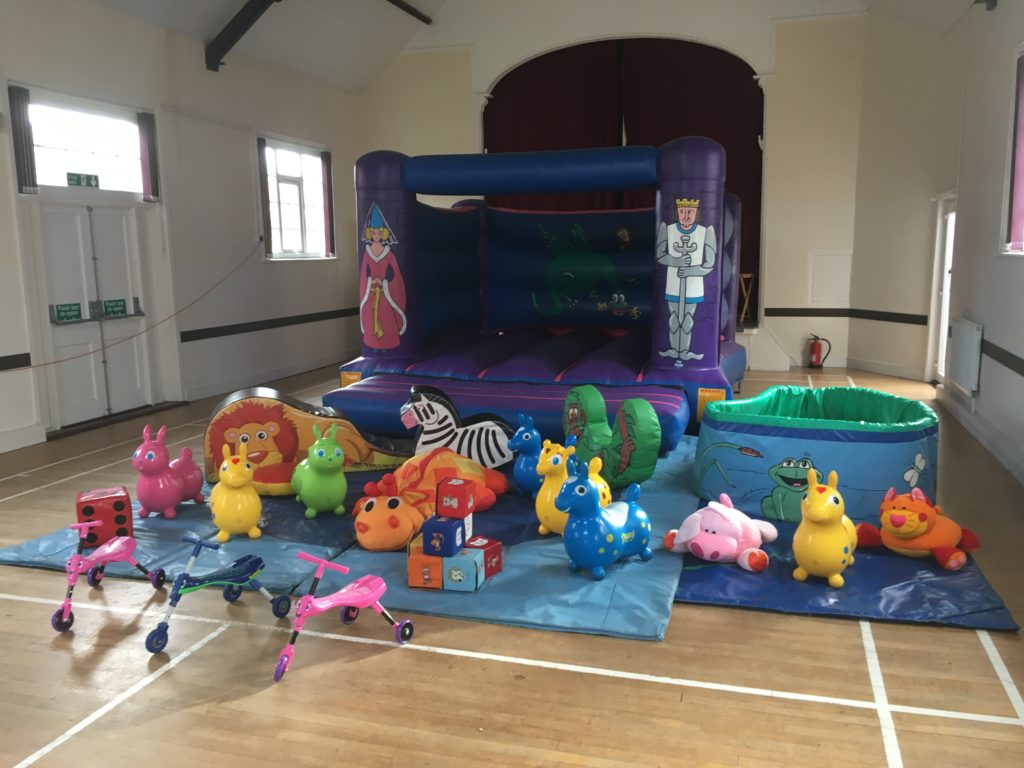 Bouncy castle with soft play hire in Dibden Purlieu for 1st Birthday Party