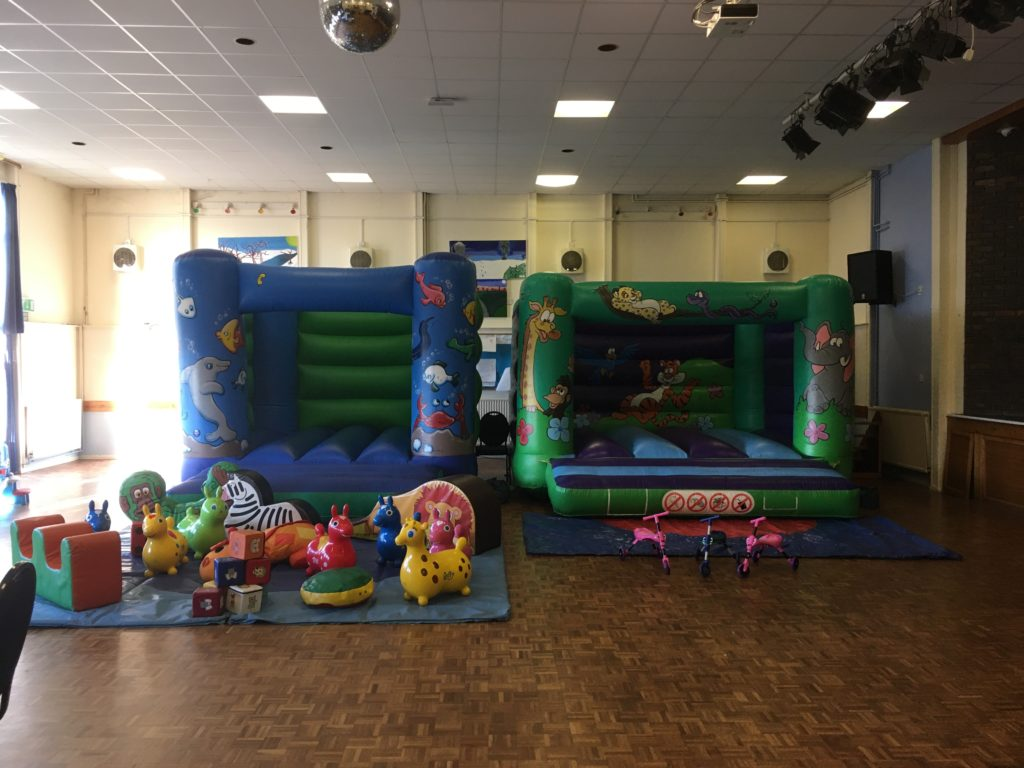 Jungle and Sealife Bouncy Castles for Hire at Swanmore Community Centre, plus Soft Play