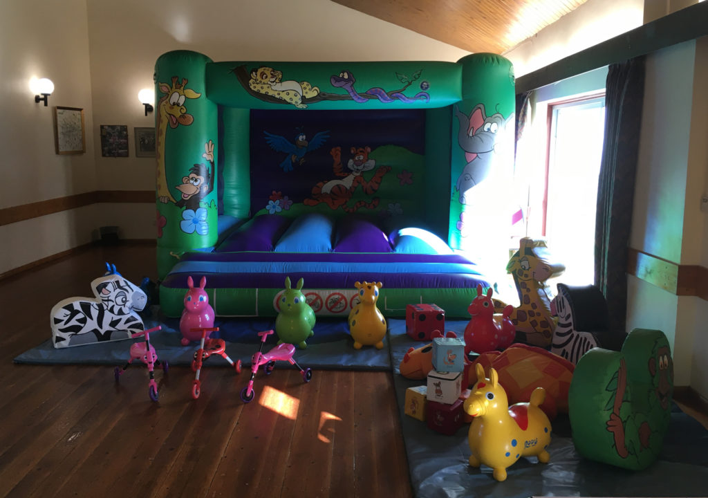 Jungle Bouncy Castle with Soft Play in Meonstoke Village Hall, Meon Valley