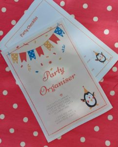 party planning organiser for family parties or children's birthdays.