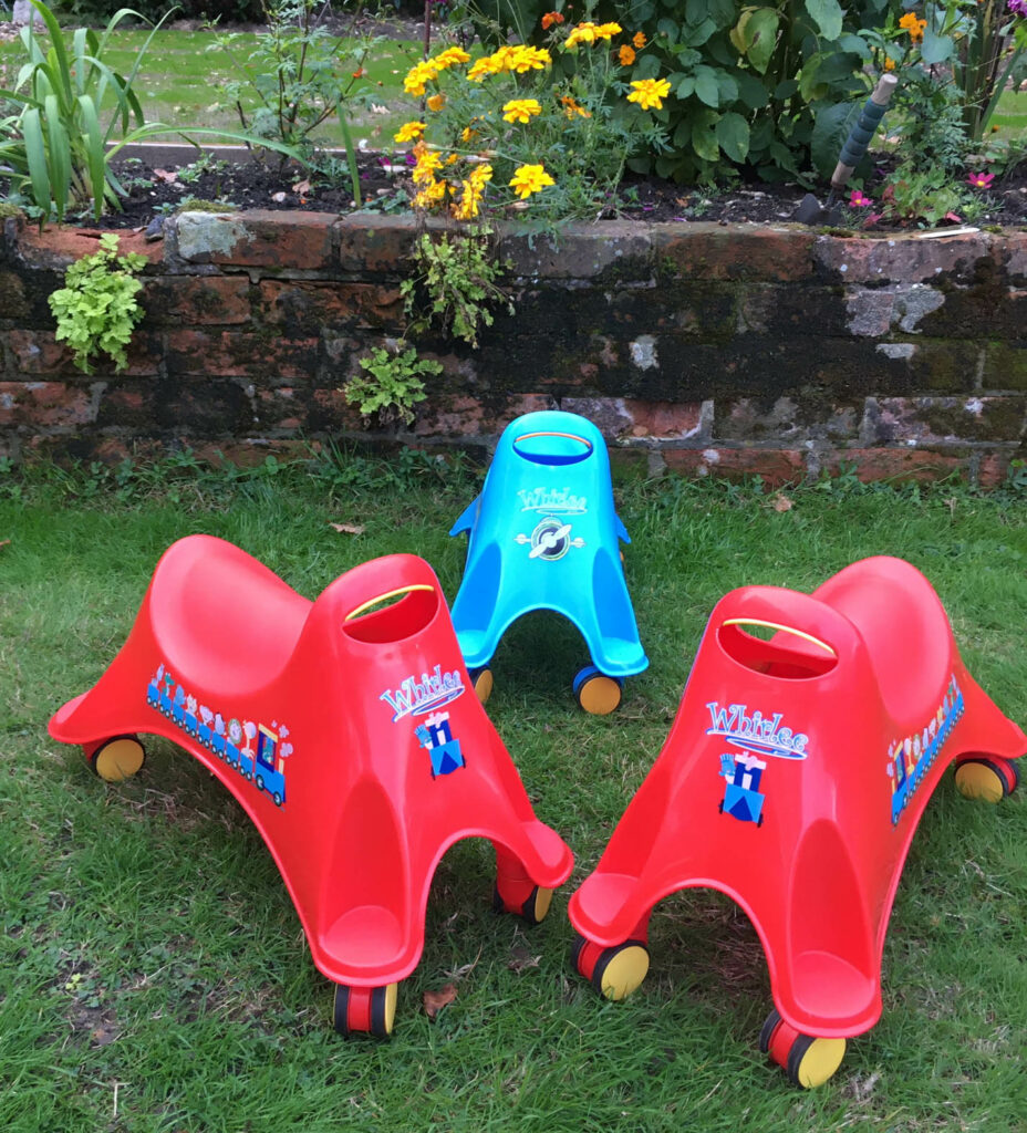 Set of 3 whirlee ride on toys for toddlers hire Southampton