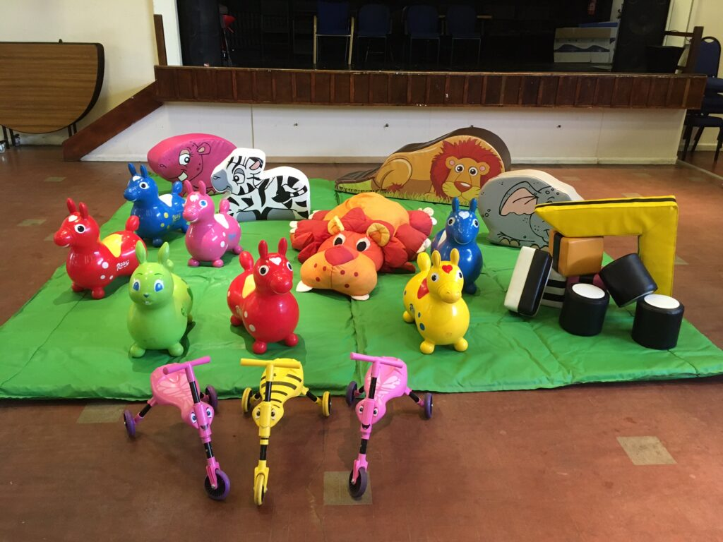 Soft play hire for preschool parties at Hedge End Social Club
