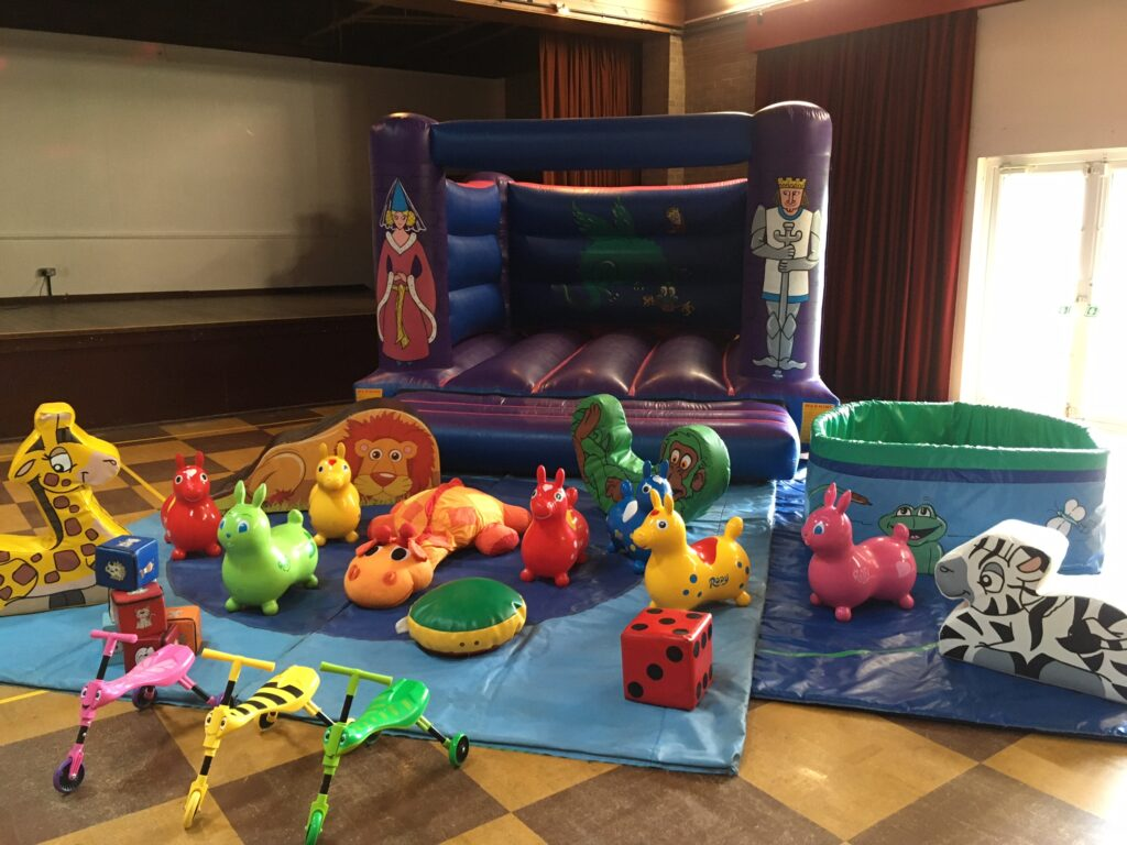 Bouncy castle and soft play for 1st birthday party in Rownhams Nursling Southampton