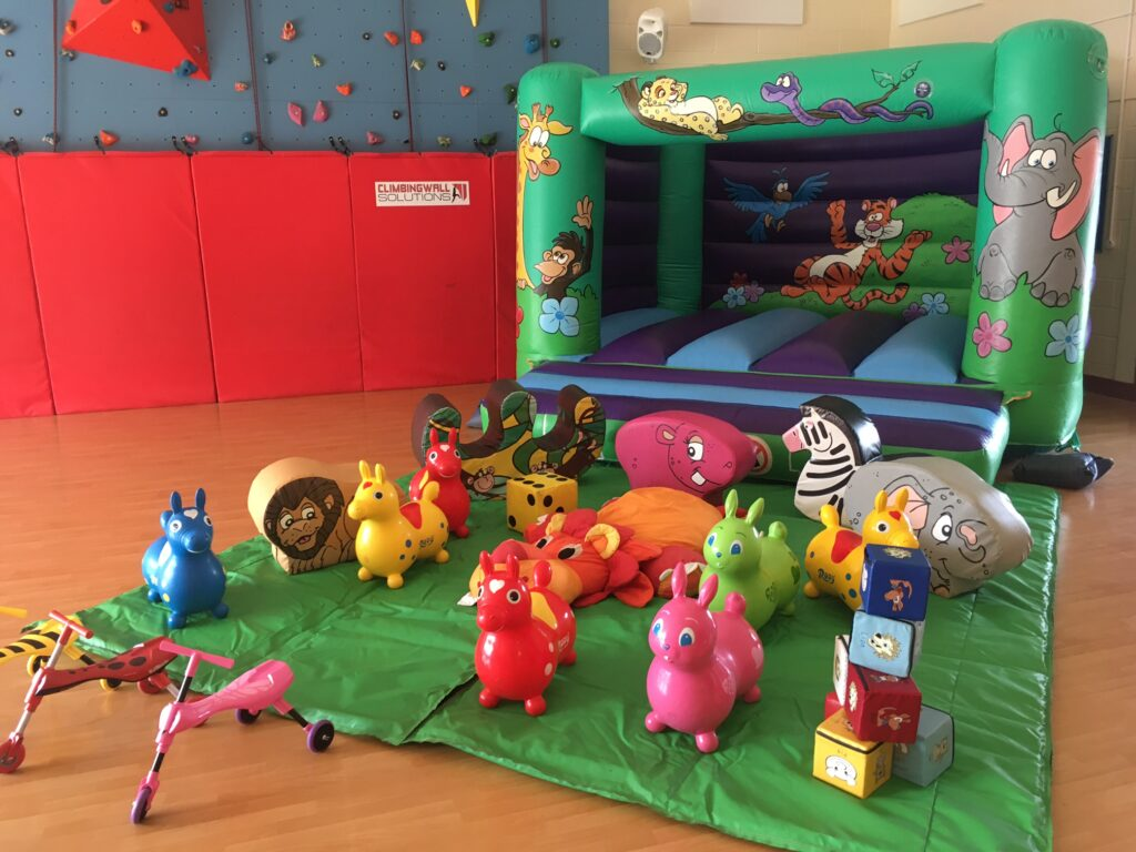 Jungle castle with soft play at Dr Peter Scouts Hall in Romsey
