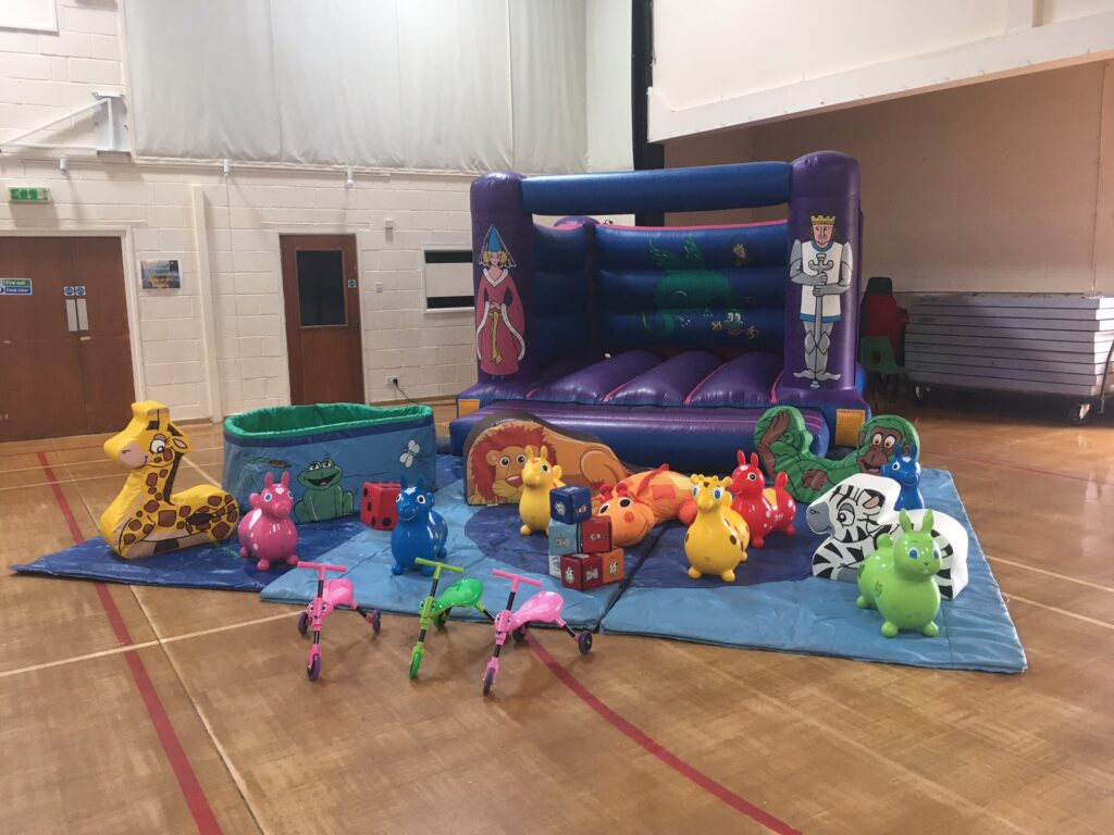Bouncy castle, soft play and ball pool hire at Wickham Community Centre